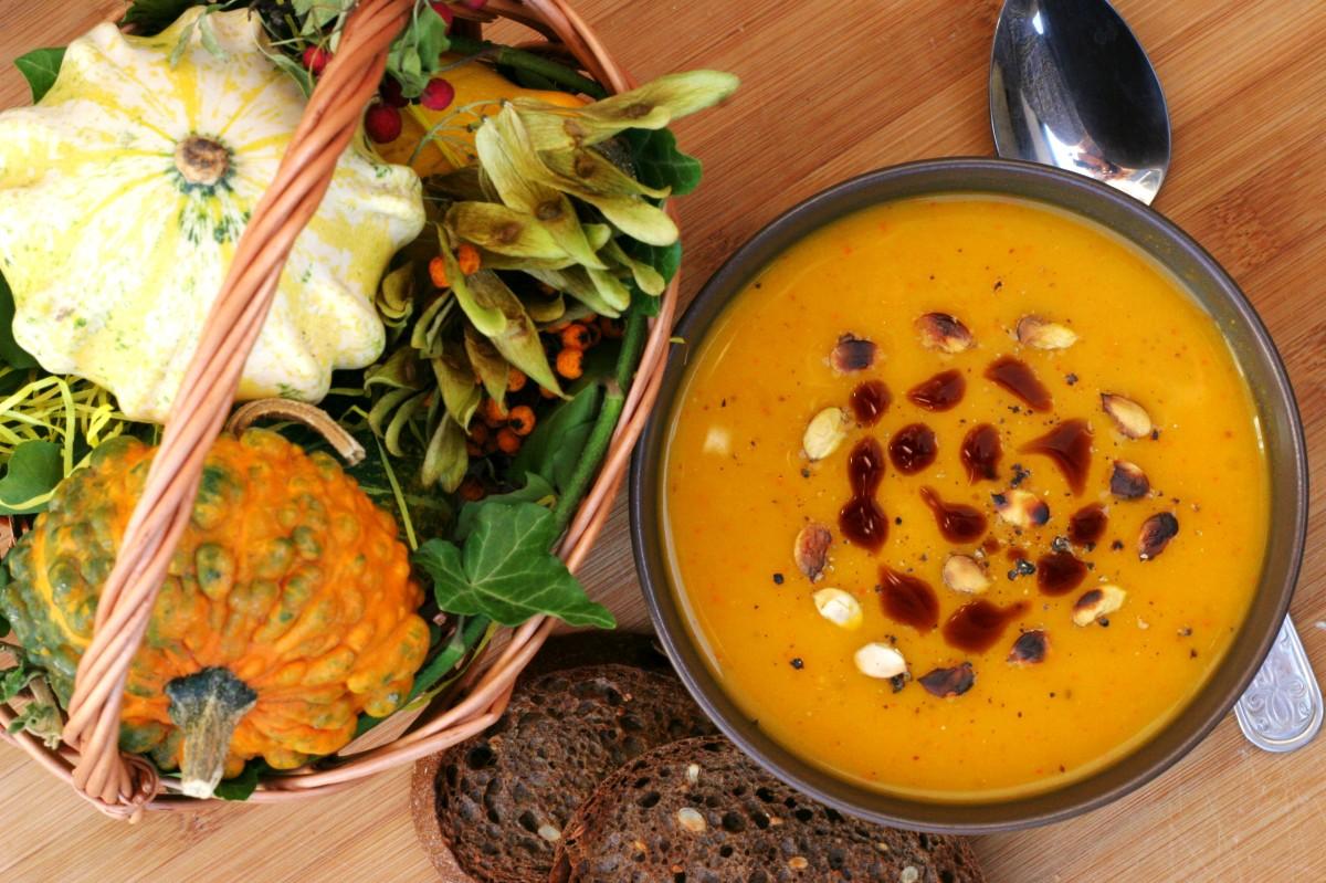 Hokkaido-batátová polievka