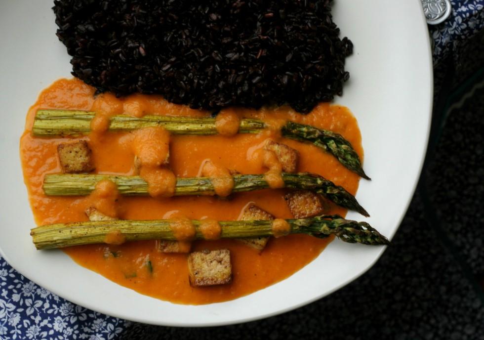 spargla vegan recept omacka aparagus
