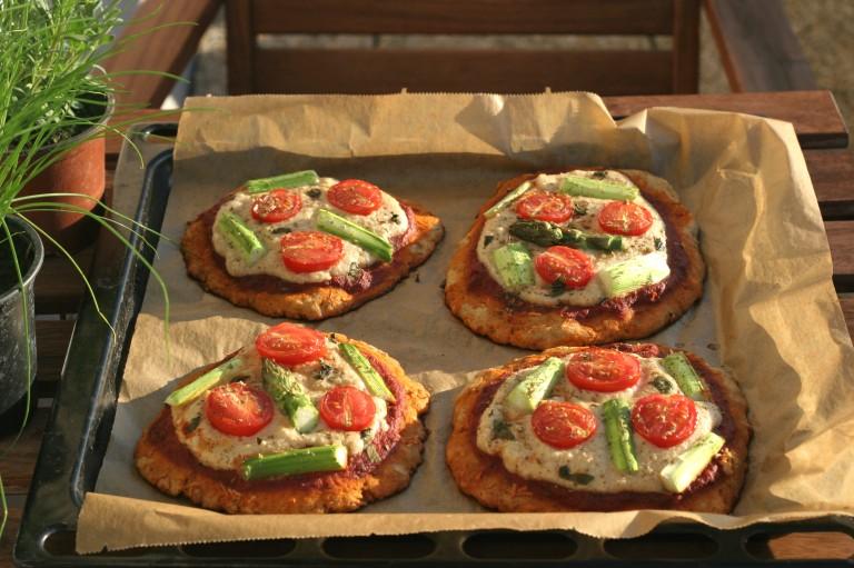 mini pizza vegan